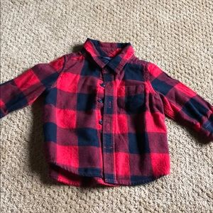 Baby Gap Buffalo Check Button Down